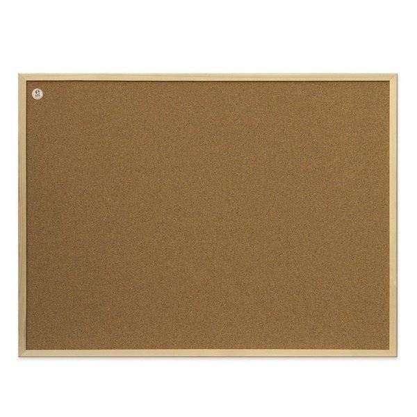 Доска пробковая 2х3 деревянной рамке ECO (сосна) 60x40 (TC64/C)