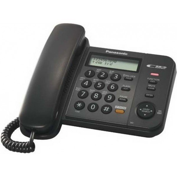 Телефон шнуровой PANASONIC KX-TS2356UAB
