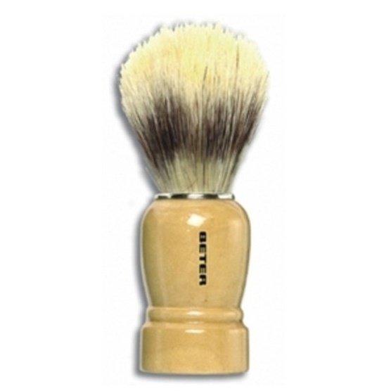 Помазок для бритья Beter с деревянной ручкой