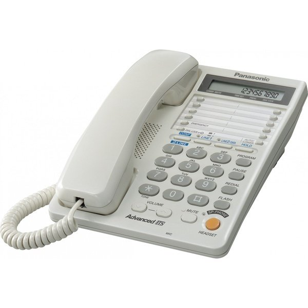 Телефон шнуровой PANASONIC KX-TS2368RUW