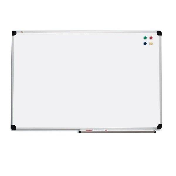 Доска настенная ABC-display 65х100 см сухостираемая для маркера, алюминиевая рамка S-line (116510)