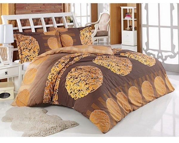 Комплект постельного белья Arya Anemon Kahve, полуторный (1001690)