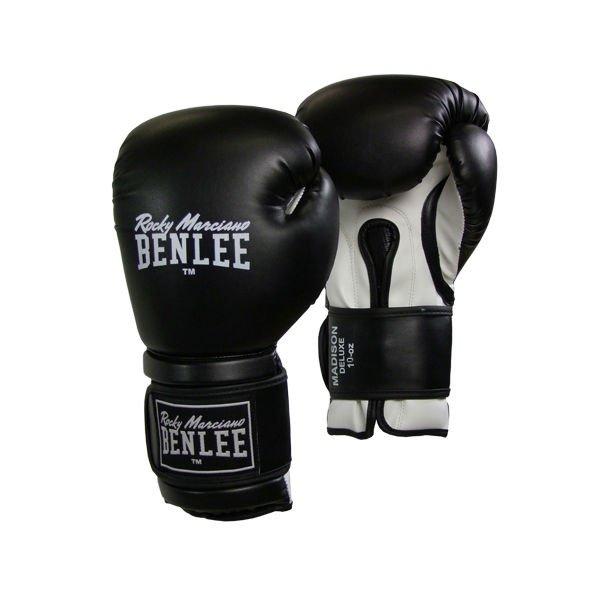 Боксерские перчатки Benlee Madison Deluxe 12 ун. (194021/1500) Черный-белый