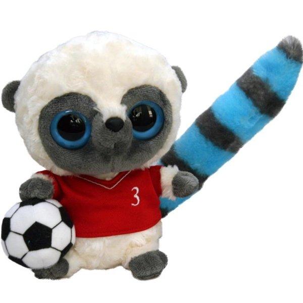 Мягкая игрушка Aurora Yoohoo Лемур Футболист 20 см (91404K)