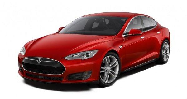 Электроавтомобиль Tesla S 70D красный