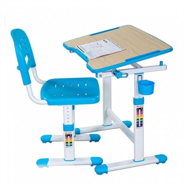 Комплект FunDesk Парта и стул-трансформеры (PICCOLINO ІІ BLUE)