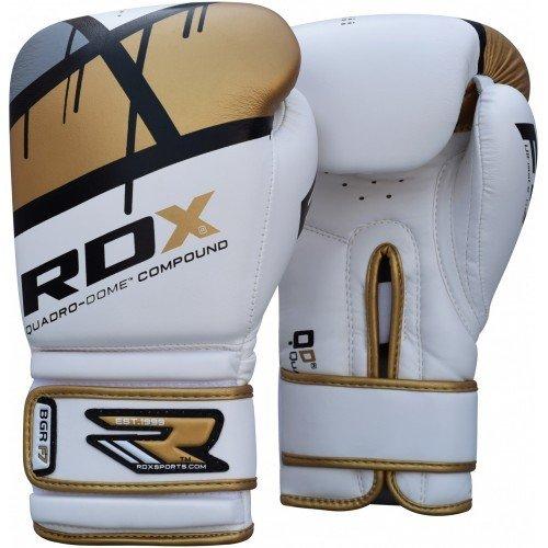 Боксерские перчатки RDX Rex Leather Gold 10 oz (10122)
