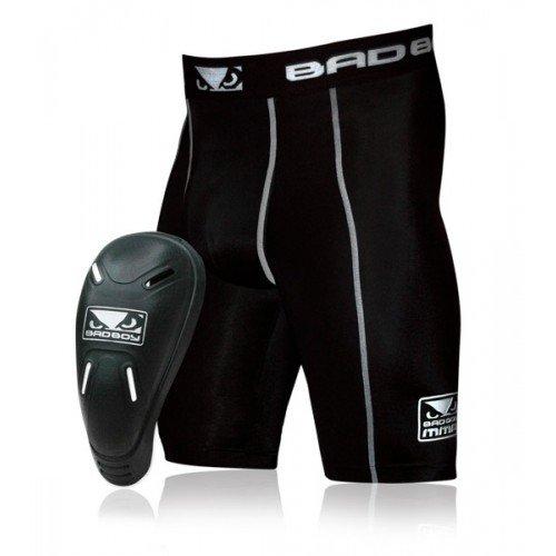 Компрессионные шорты с ракушкой Bad Boy Black р.XL (210111)