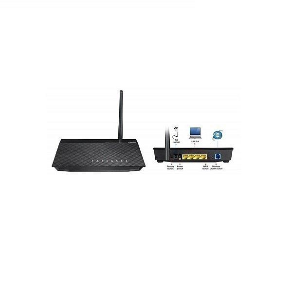 ADSL-роутер ASUS DSL-N10 ADSL2/2+, 802.11n 150Mpbs, 5dBi ант, съемная, 4xLAN, 1xRJ11