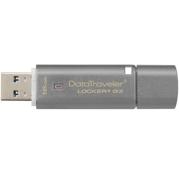 Накопитель USB 3.0 Kingston DT Locker+ G3 16GB Metal Silver Security (DTLPG3/16GB)