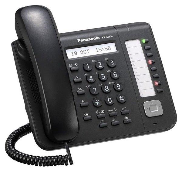 IP-телефон Panasonic KX-NT551RU-B Black для АТС Panasonic KX-TDE/NCP/NS